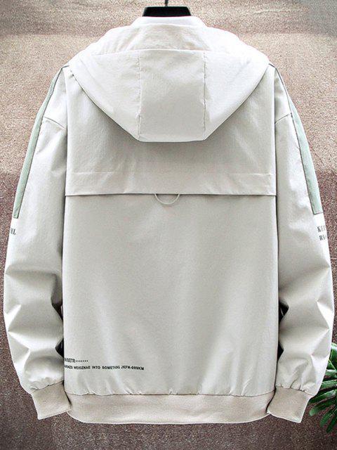 Veste à Capuche Lettre Imprimée ContrastéeJointiveavec Poche à Rabat - RAL1001Beige S Mobile