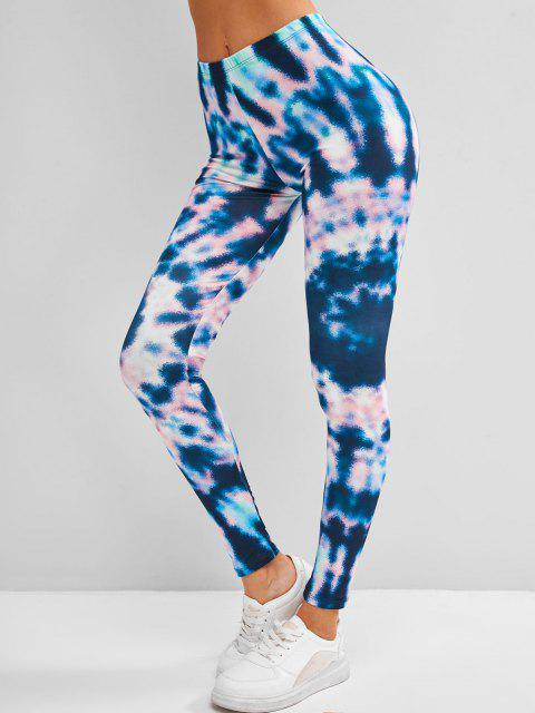shops Tie Dye Skinny Leggings - DEEP BLUE ONE SIZE Mobile