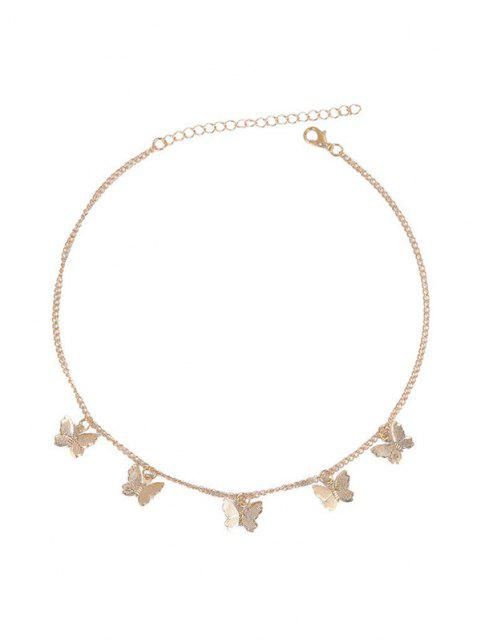 unique Chain Butterfly Collarbone Necklace - GOLDEN  Mobile