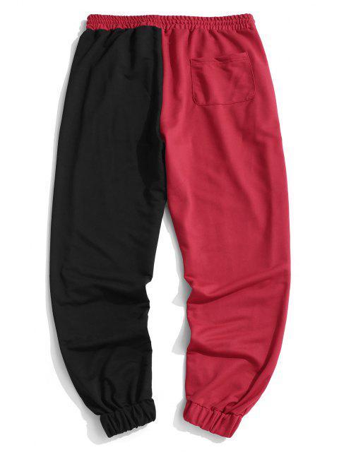 Pantalones Deportivo Dos Tonos Dibujos Animados - Rojo M Mobile
