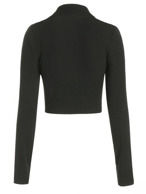 latest ZAFUL Half Zip Crop Tee - BLACK XL Mobile