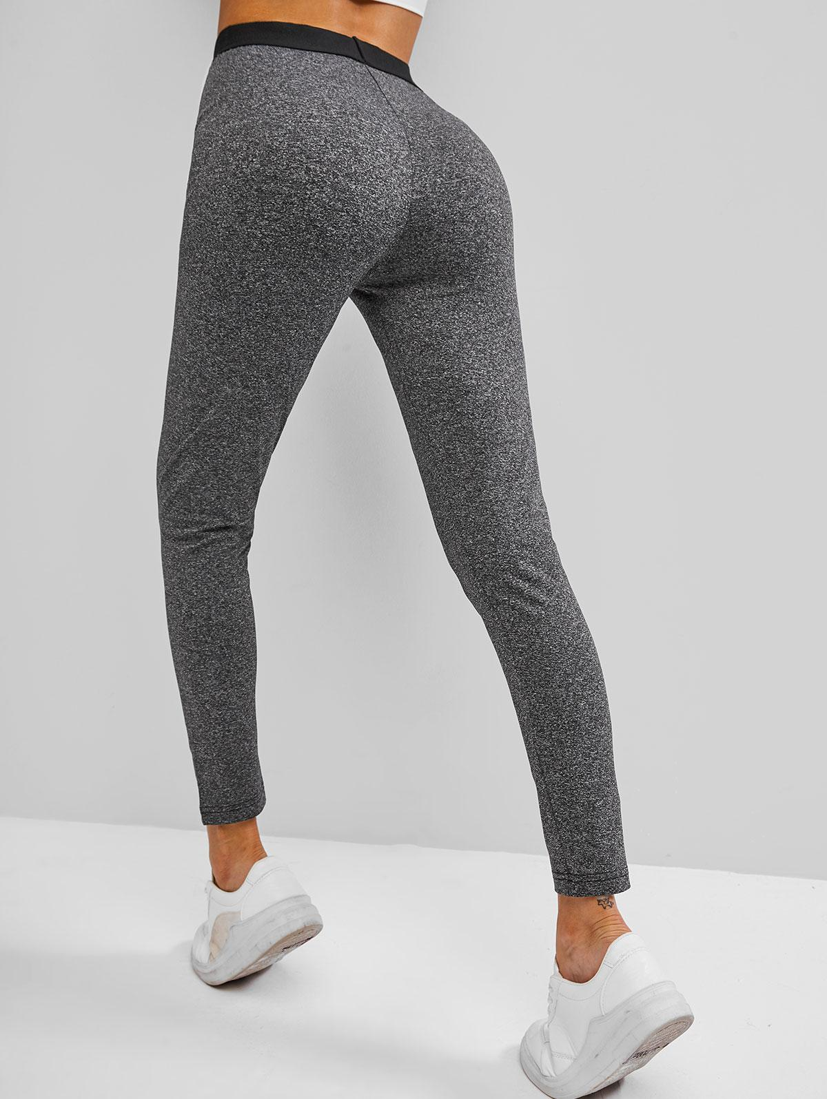 High Waisted Heather Skinny Leggings
