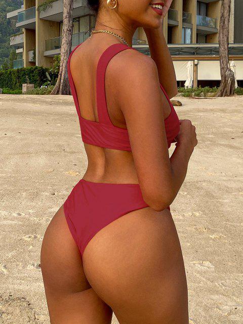 Bikini Bandeau Acolchado con Tirantes Anchos - Rojo M Mobile