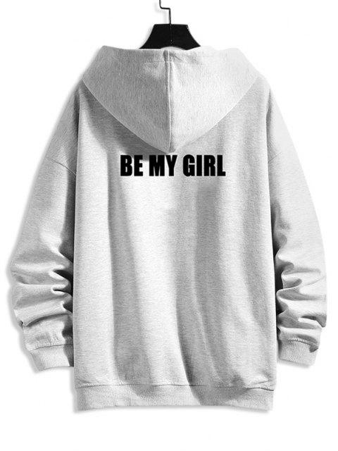 latest Be My Girl Hooded Jacket - PLATINUM 2XL Mobile