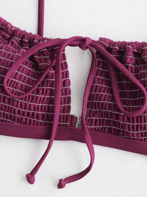ZAFUL Kittel Bikini Badebekleidung mit Ausschnitt - Tiefrot S Mobile