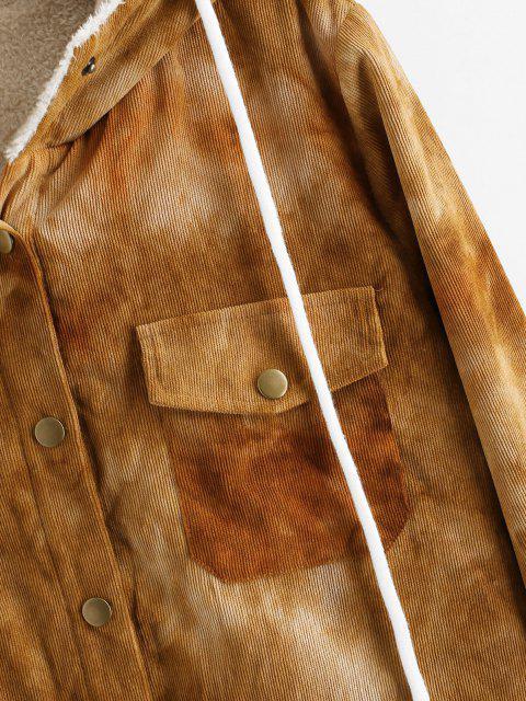 ZAFUL Veste Teintée à Doublure en Laine en Velours Côtelé - Bronze S Mobile