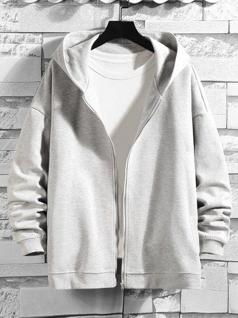 Veste à Capuche Homme en Dessin Animé Imprimée à Goutte Epaule - Gris argenté XL Mobile