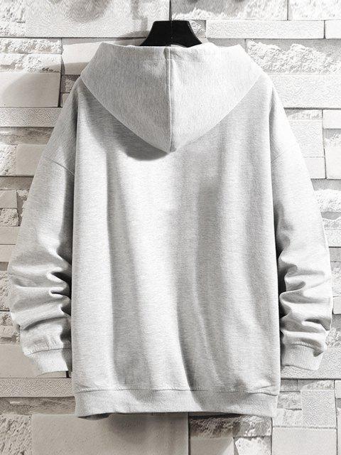 buy Letter Graphic Print Zip Up Hoodie Jacket - PLATINUM 4XL Mobile