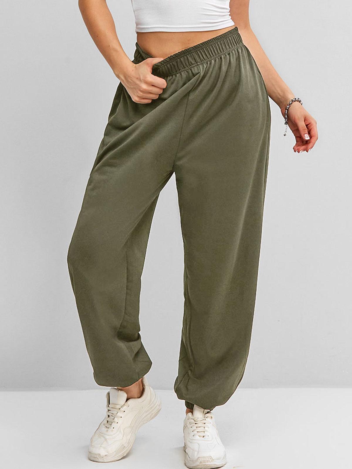 High Waisted Pocket Jogger Sweatpants