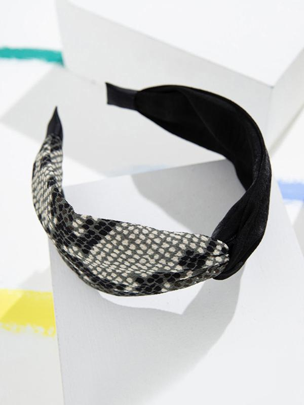 Snakeskin Pattern Wide Fabric Hairband