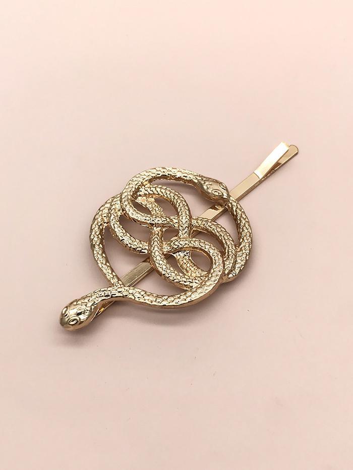 Dual Snake Pattern Hair Clip