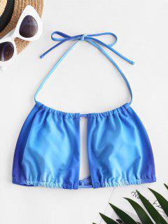 ZAFUL Halter Ombre Bikini Top - Blue L