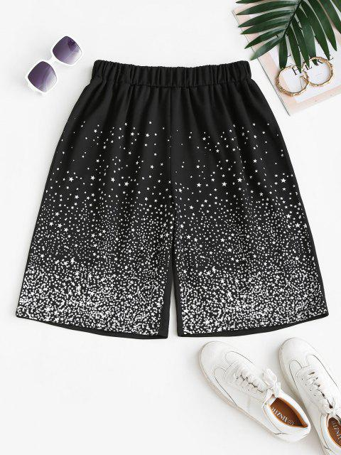 online Stars Print Sweat Bermuda Shorts - BLACK M Mobile