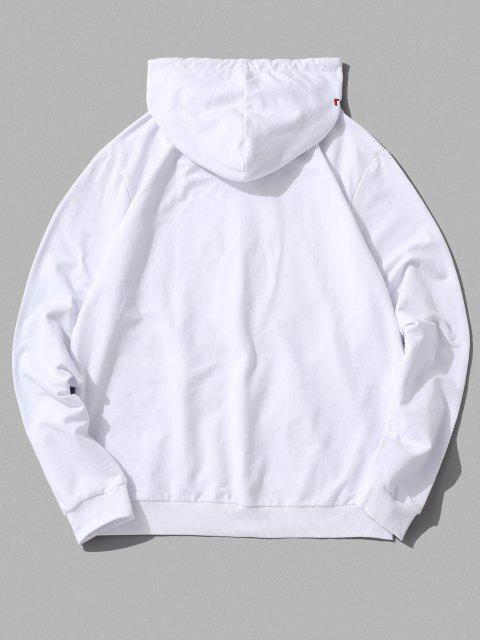 online ZAFUL Floral Heart Graphic Drawstring Lounge Hoodie - WHITE XS Mobile