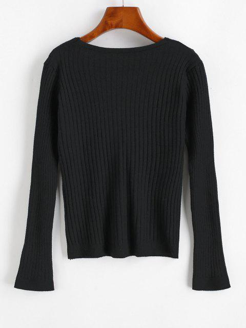 new Wide Rib Cardigan - BLACK ONE SIZE Mobile