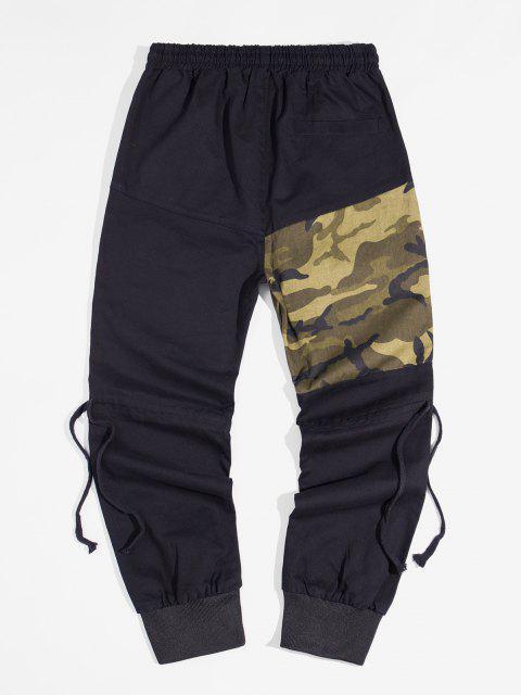 Pantalones Lápiz Contraste Parches y Cordones - Verde Camuflaje S Mobile