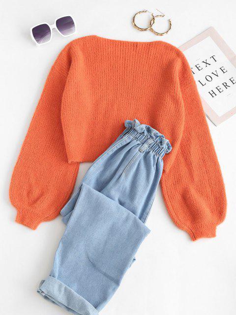 Suéter Manga Sino Distorcido - Laranja S Mobile