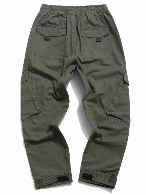 Pantalones de Carga con Cordón - Ejercito Verde L Mobile