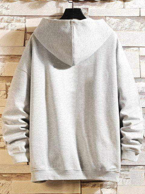 best Daisy Letter Print Zip Up Hoodie Jacket - PLATINUM 3XL Mobile