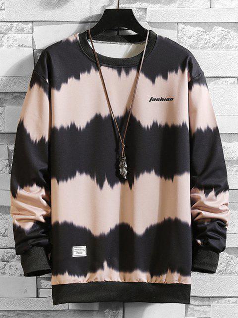 Sweatshirt Teinté Imprimé en Blocs de Couleurs - Rose  XS Mobile