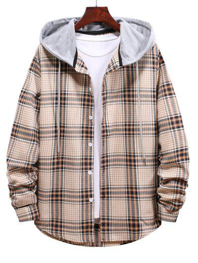 Drawstring Hooded Shirt