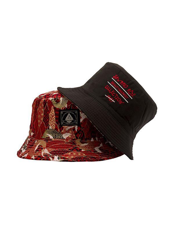 Wave Carp Pattern Bucket Hat
