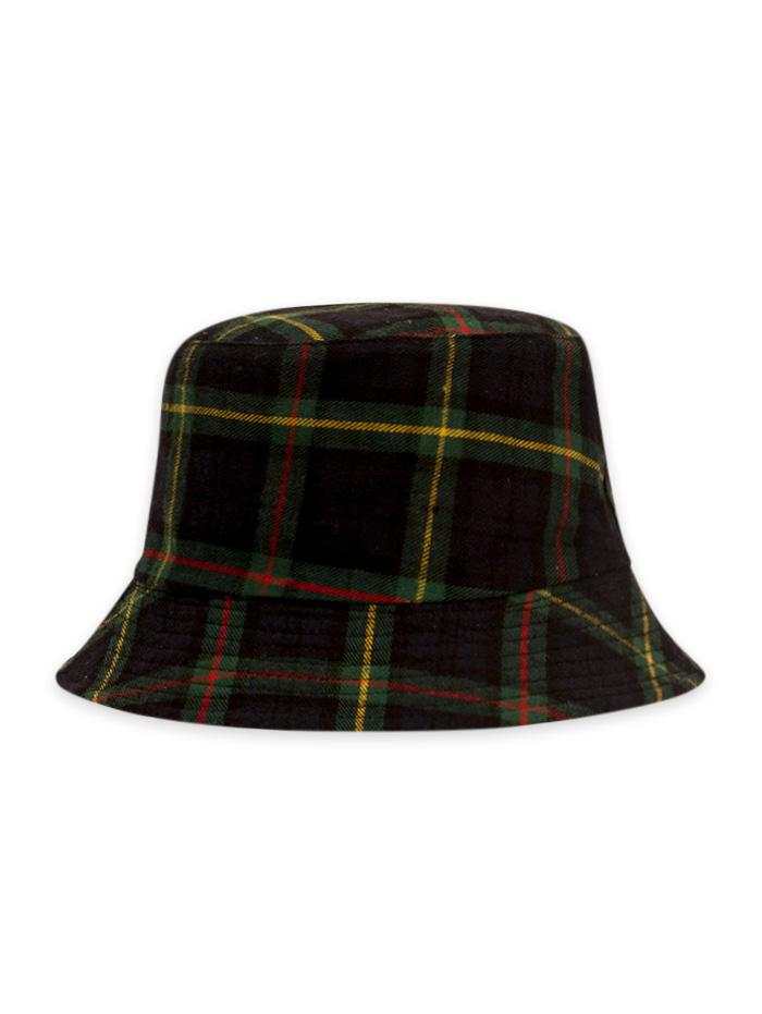 Plaid Printed Bucket Hat