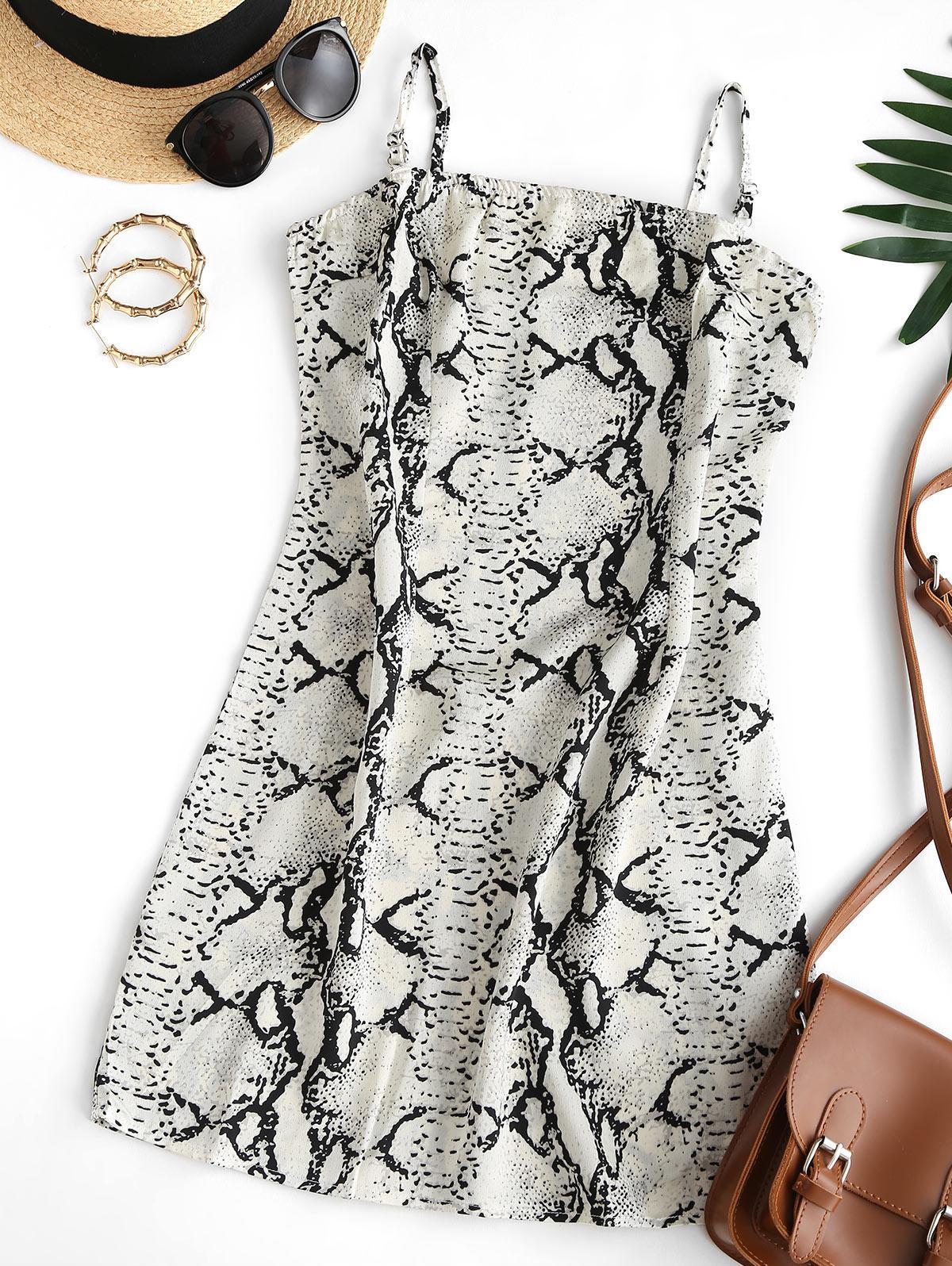 Cami Snake Print Bodycon Dress