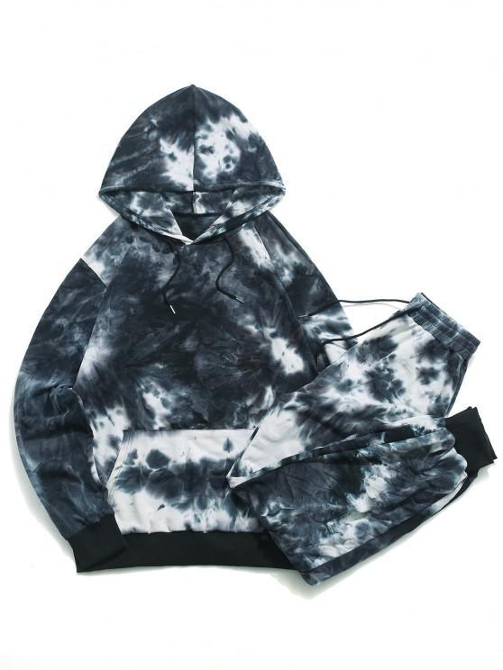 Tie Dye Hoodie and Sweatpants Set - متعدد 2XL