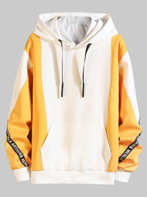 Casaco moleton de capuz com bolsos de canguru - Abelha Amarela L