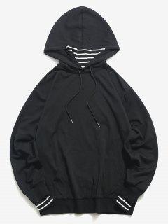 ZAFUL Streifen Gesicht Hoodie Mit Känguru Tasche - Schwarz S