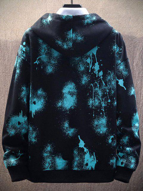 outfits Paint Splatter Print Drawstring Hoodie - BLACK XS Mobile