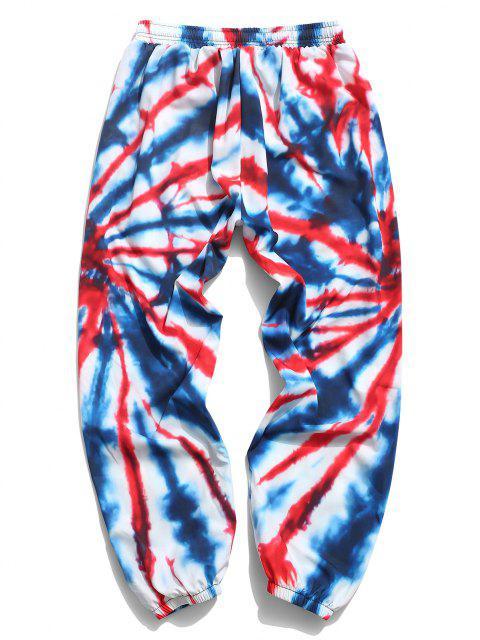 Pantalones Swirl de Tie-dye con Cordón - Multicolor-B 3XL Mobile