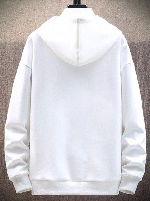 chic Letter Graphic Print Pullover Hoodie - WHITE S Mobile