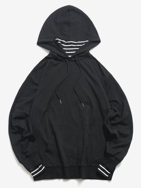 ZAFUL Streifen Gesicht Hoodie mit Känguru Tasche - Schwarz S Mobile