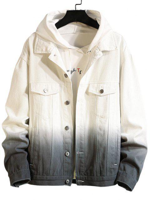 Jaqueta de Denim de Gola Levantada com Bolso - Preto 2XL Mobile