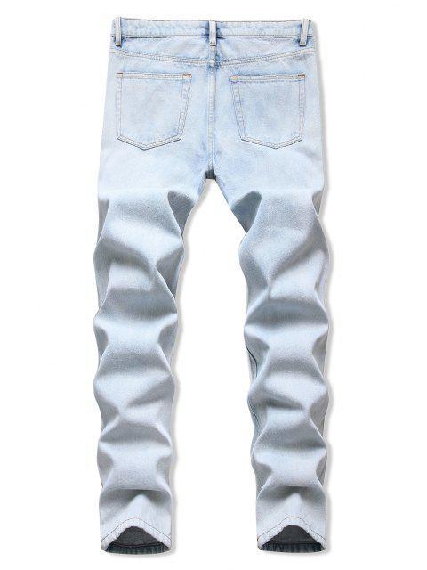 Jeans Affusolati con L'Acido - Azzurro 38 Mobile