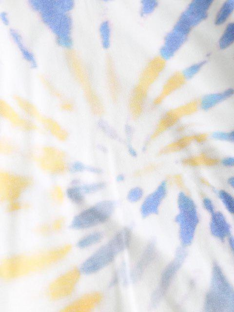 online ZAFUL Spiral Tie Dye Print Sweatshirt - BLUE M Mobile
