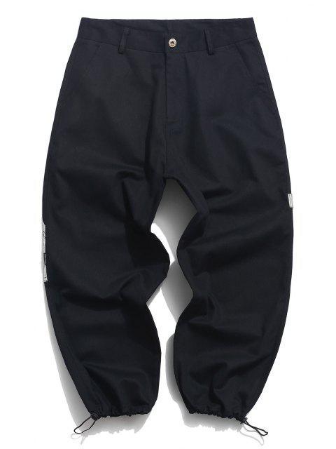 Pantalones de Carga con Parche en Contraste de Bolsillo de Parche - Negro S Mobile