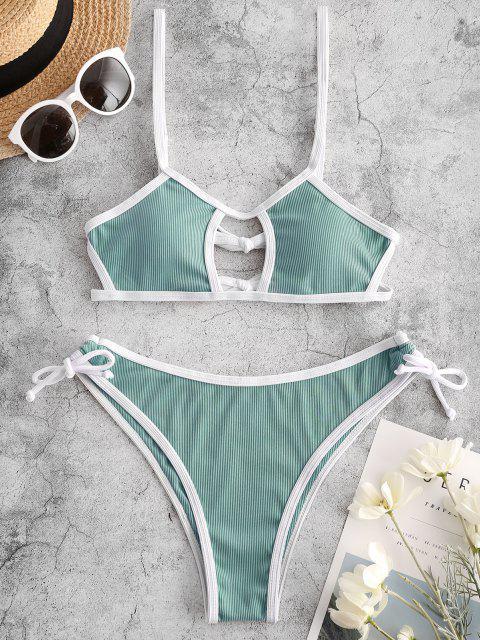 Costume da Bagno Bikini a Costine di ZAFUL - Verde chiaro S Mobile