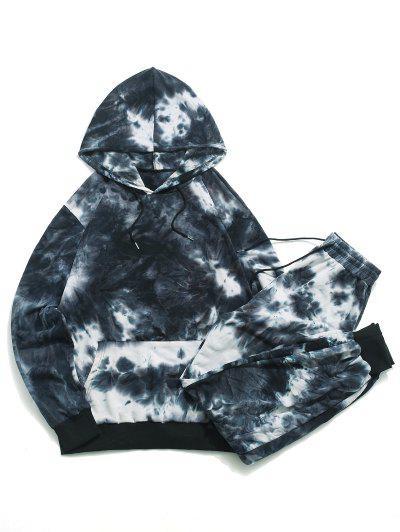 Tie Dye Hoodie And Sweatpants Set - Multi L