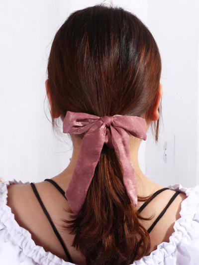 Solid Bowknot Ribbon Scrunchie - Dull Purple