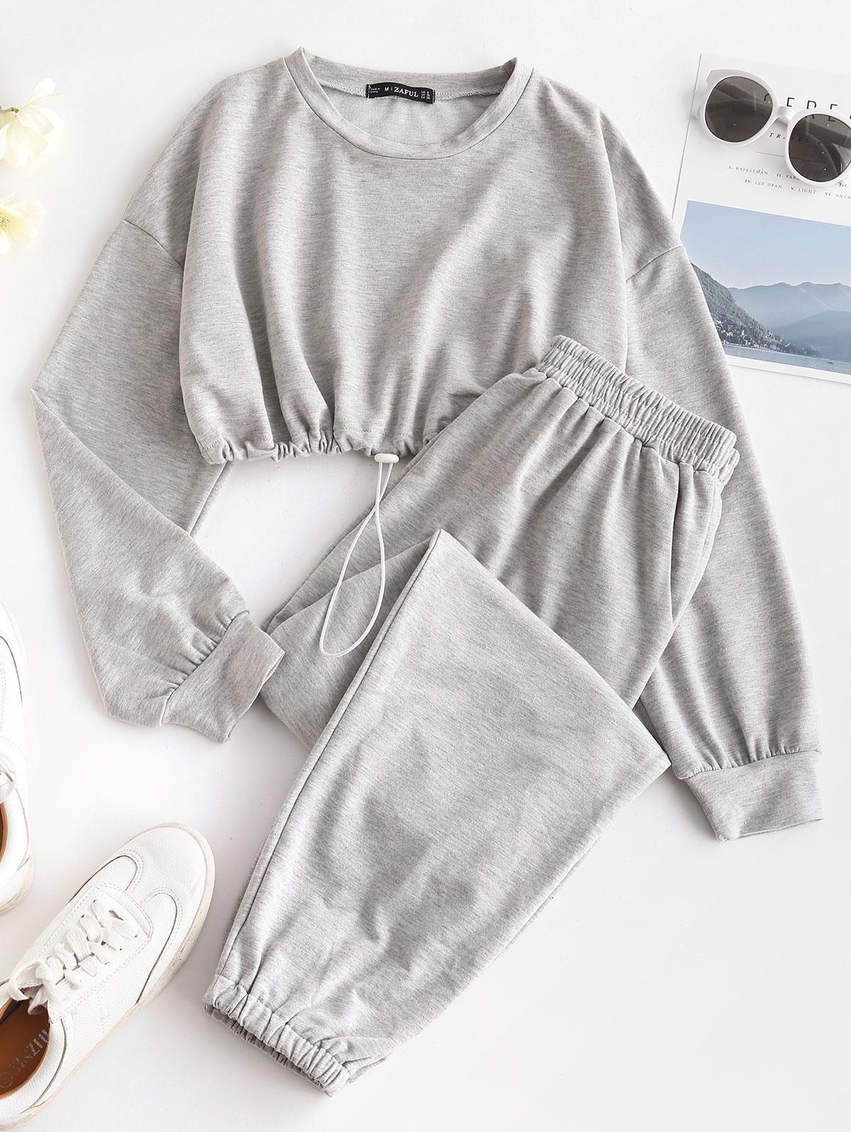 Sweat Marled Two Piece Pants Set
