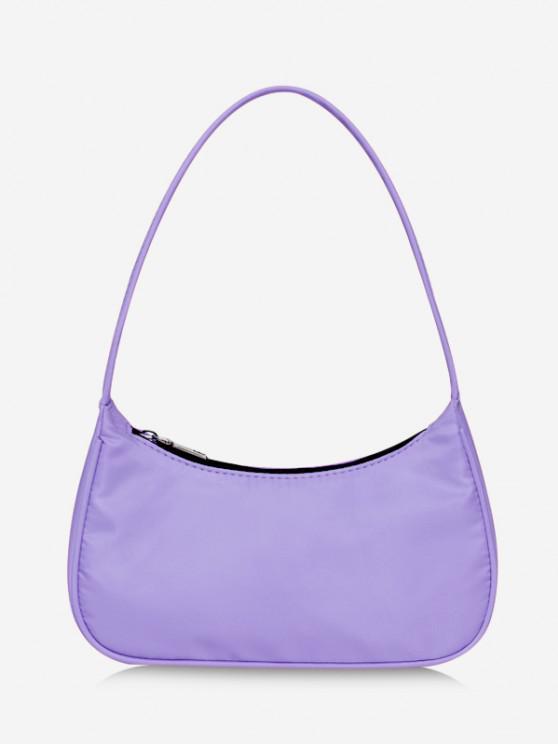 fashion Plain Cloth Simple Underarm Sling Bag - MAUVE