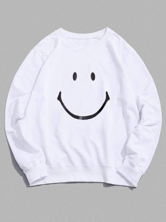 outfits Lounge Smiley Face Graphic Crew Neck Sweatshirt - WHITE XL