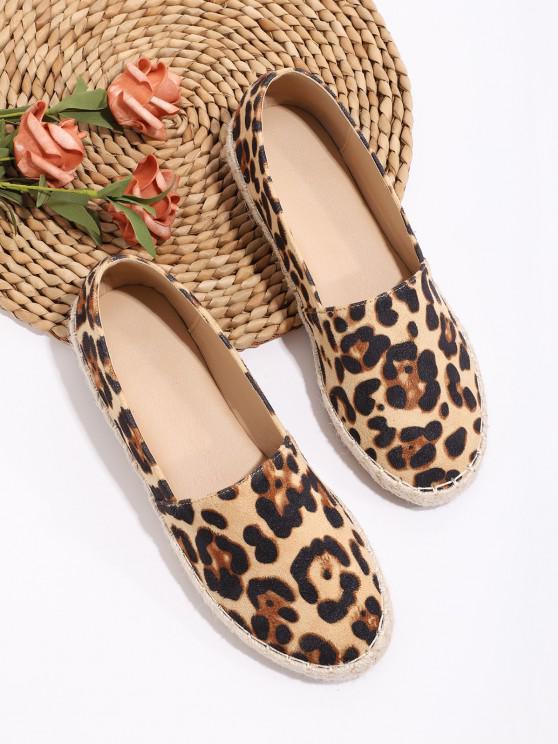 shop Leopard Pattern Slip On Flat Shoes - MULTI-A EU 41