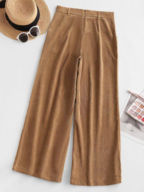 outfits Corduroy Back Zip Sailor Pants - COFFEE M Mobile