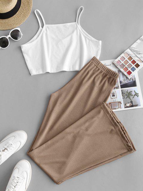 Top e Pantaloni a Blocchi di Colore - caffè leggero L Mobile
