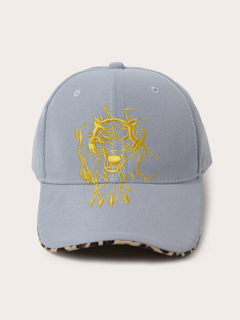 outfits Tiger Embroidered Leopard Baseball Cap - BABY BLUE  Mobile