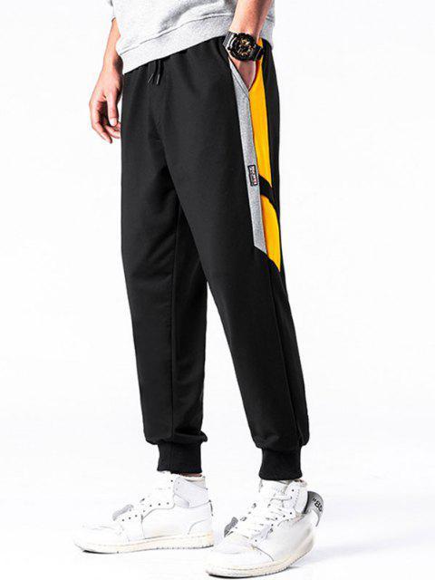 Pantalones Deportivos con Cordón Ajustable y Estampado de Letras - Caucho Ducky Amarillo XS Mobile